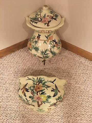 2 piece, wall mount pottery planter