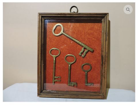 1800s ANTIQUE Brass Skeleton Keys Jail Gate Castle