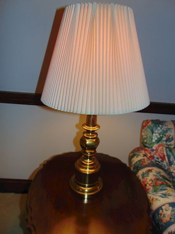 Two Stiffel Brass Lamps