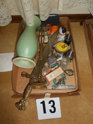 Lot #13 Sword-vintage vase etc.