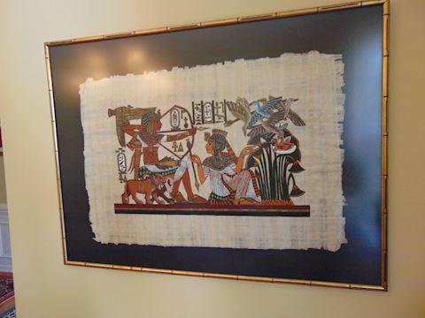 Framed Egyptian Papyrus Art