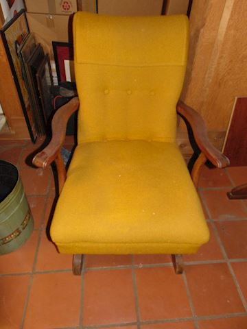 Vintage Upholstered Rocker