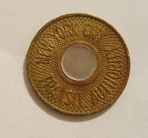 Old New York City Transit Authority Token