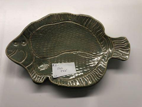 Handmade Pottery Fish Dish