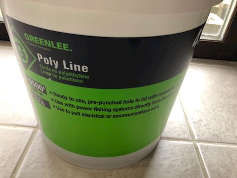 Green led 430 Poly Line fishing wire pulling twine