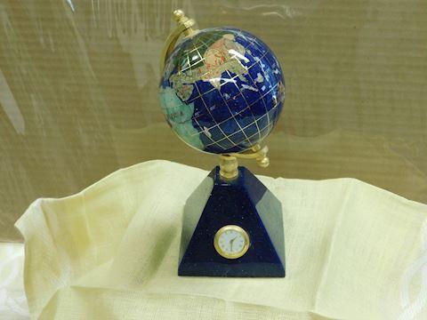 Desk Globe with clock