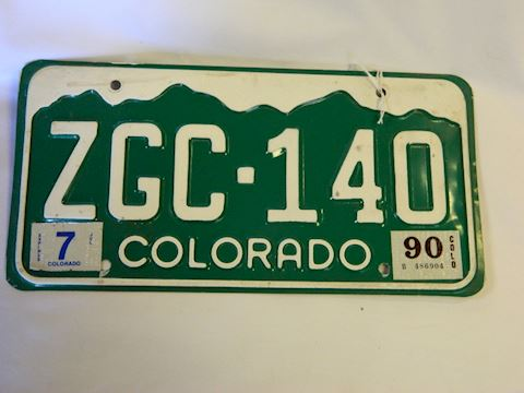1990 CO Plate