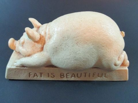 """Vintage  Wise Guy Fat is Beautiful Pig 3x6"""""""