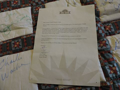 Grand Ole Opry Signed Quilt Stars of Country Music