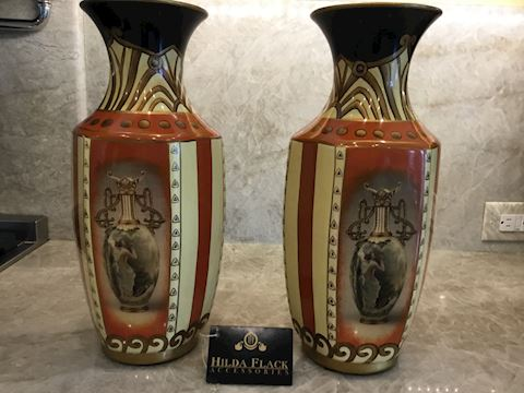 two Vases  by Hilda Flack