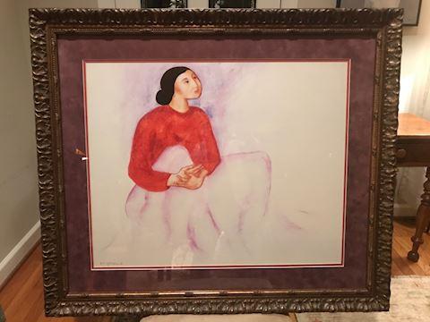 RC Gorman in custom frame