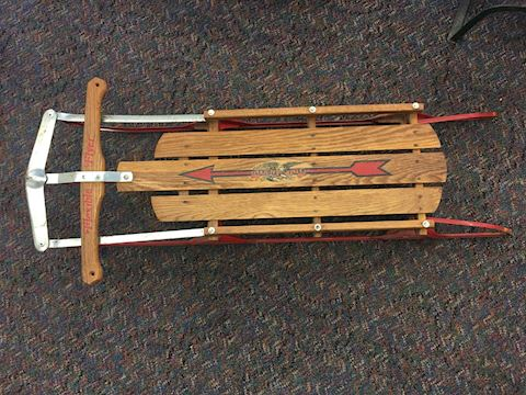 Blazon Vintage Flexible Flyer Winter Sled 48""