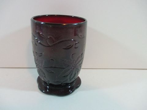Princess House Candle Holder Ruby Red
