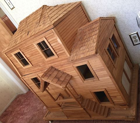 One-of-a-kind Wooden Dollhouse