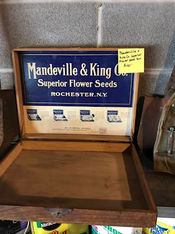 Mandeville and King company seed box