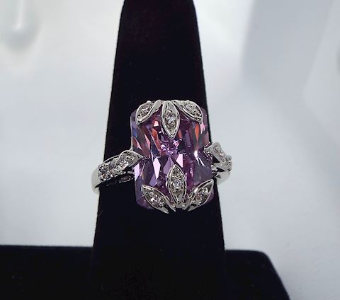 Kirks Folly Ring w Amethyst Colored Stone size 10