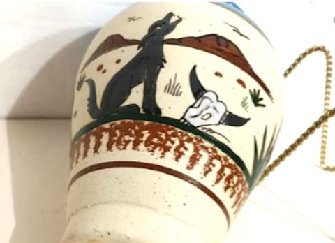 Art Pottery Mexico Dog in Desert