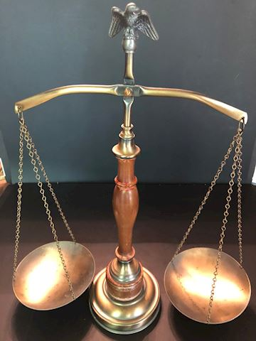Vintage Scales of Justice Balancing Scale