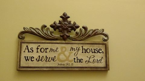 As For Me & My House We Serve the Lord Wall Art