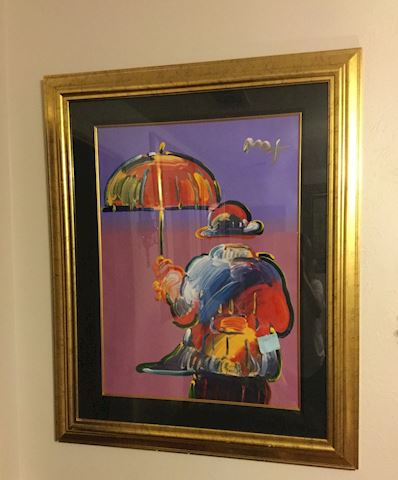 Peter Max -  Framed Lithography signed in acrylic