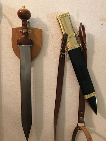 Roman Gladius Style Roma Pompeii Sword with Sheath