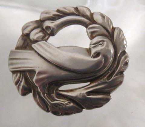 Vintage Sterling Silver Dove Bird Brooch