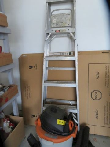 4 Foot Ladder, Shop Vac, and 2-Step Stool/Ladder