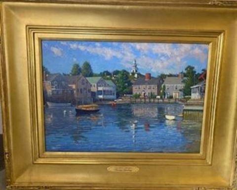 "Thomas Dunlay  O/C Painting titled "" Easy Street """
