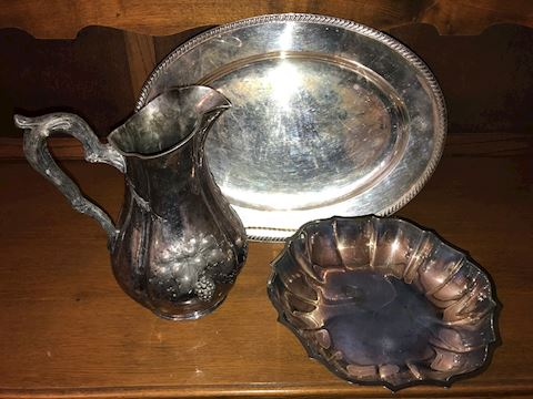 3-Piece Silver Plated Serving Lot