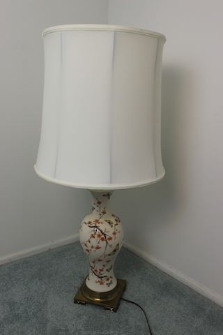 Table Lamp - Porcelain with Flowers