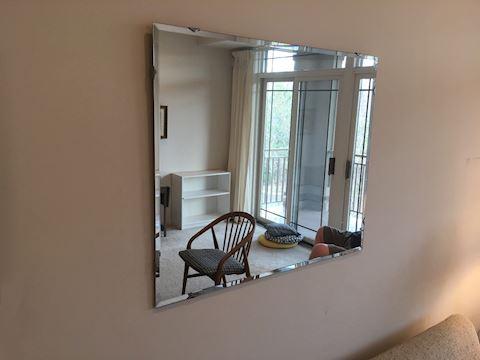 Frameless Beveled Glass Mirror