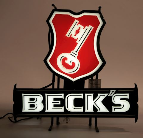 Vintage Beck's Beer neon sign works