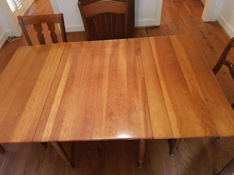Vintage Cottage Drop Leaf Maple Table