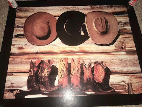 Hats and Boots Poster 20 X 16