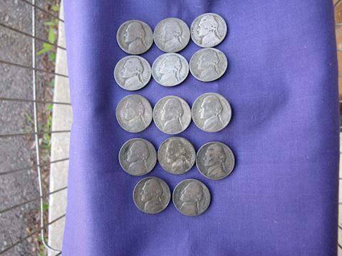 Coins - War Nickels (Silver)
