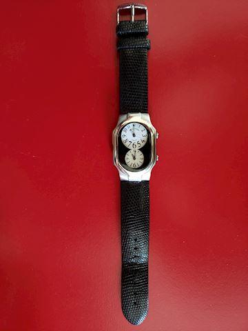 Philip Stein Teslar Dual Time Zone Wrist Watch
