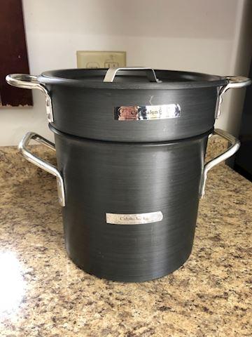 Calphalon commercial 3 pc stock pot strainer 8qt