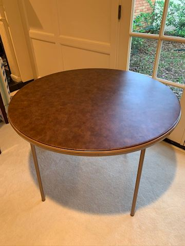 "40"" Round Folding Card Table"