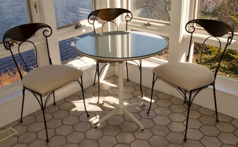 Wrought Iron Café Table - Chairs sold separately
