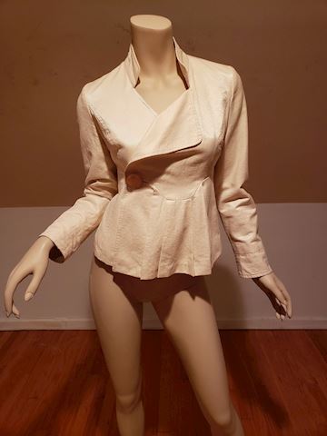Vtg Chloe' Paris  Cream Mercerized cotton Jacket