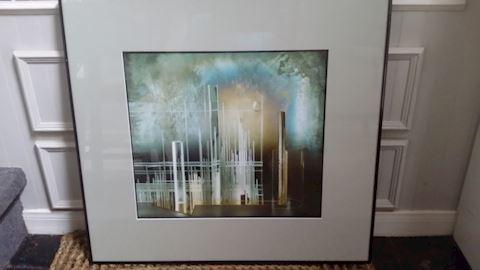 """BEATRICE HELG 1985 """"GEOMETRIE VII"""" FRAMED PRINT"""