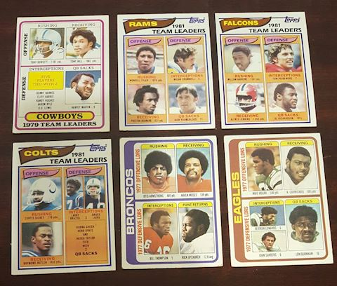6- 1977-1981 Football Team Leader Cards