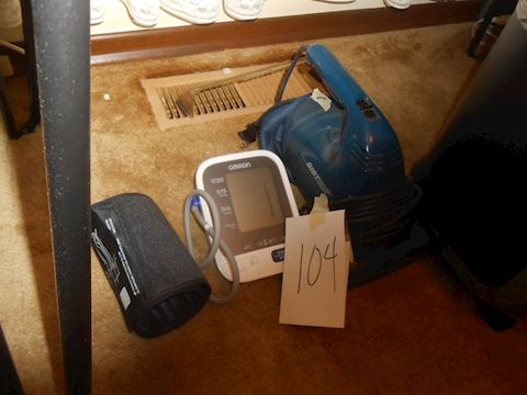Lot #104 Blood pressure machine and vac