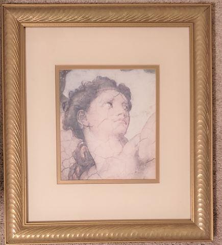 #2 Michaelangelo Framed Picture