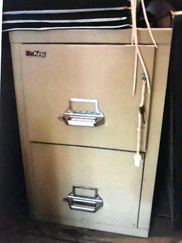 2 door file cabinet