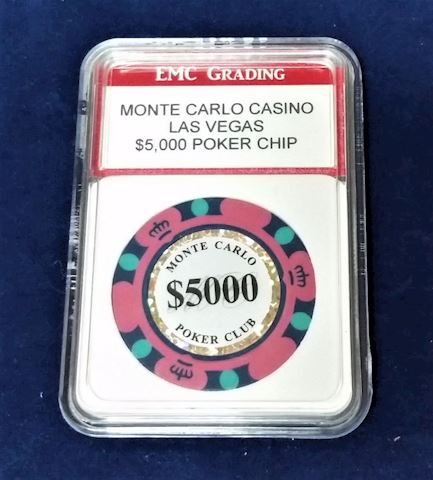 Two $5000 Monte Carlo Casino Poker Chips
