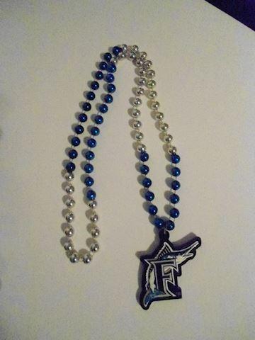 Florida Marlins Bead Necklace
