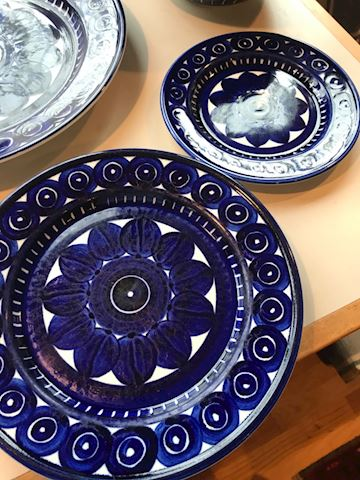 """Arabia """"finland"""" dish set with serving pieces"""
