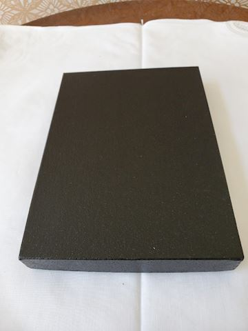 Black Japanese design address book (in English)
