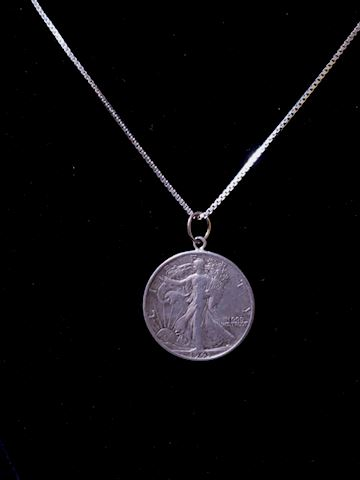 Walking Liberty Coin, pendant only